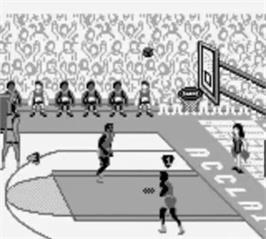 In game image of College Slam on the Nintendo Game Boy.