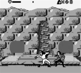 In game image of Cutthroat Island on the Nintendo Game Boy.