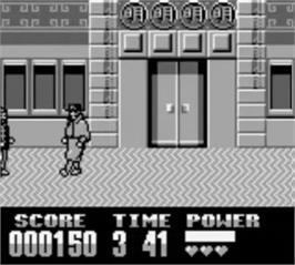 In game image of Darkman on the Nintendo Game Boy.