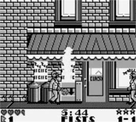 In game image of Dick Tracy on the Nintendo Game Boy.
