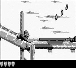 In game image of Donkey Kong Land 3 on the Nintendo Game Boy.