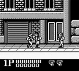 In game image of Double Dragon on the Nintendo Game Boy.