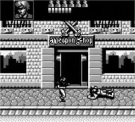 In game image of Double Dragon 3 - The Rosetta Stone on the Nintendo Game Boy.