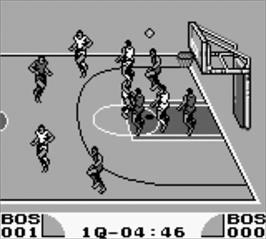 In game image of Double Dribble: 5 on 5 on the Nintendo Game Boy.