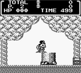 In game image of Duck Tales on the Nintendo Game Boy.