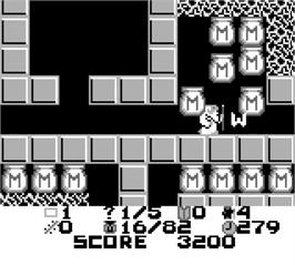 In game image of Exodus: Journey to the Promised Land on the Nintendo Game Boy.