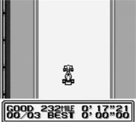 In game image of Fastest Lap on the Nintendo Game Boy.