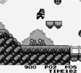 In game image of Felix the Cat on the Nintendo Game Boy.