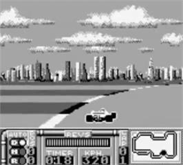 In game image of Ferrari - Grand Prix Challenge on the Nintendo Game Boy.