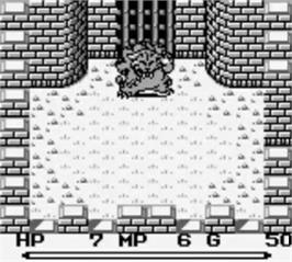 In game image of Final Fantasy Adventure on the Nintendo Game Boy.