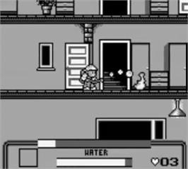 In game image of Fire Fighter on the Nintendo Game Boy.