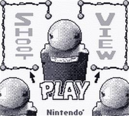 In game image of Game Boy Camera Games on the Nintendo Game Boy.