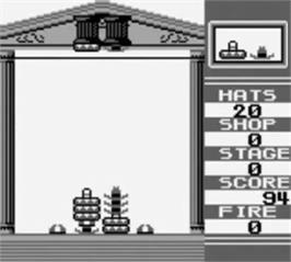 In game image of Hatris on the Nintendo Game Boy.