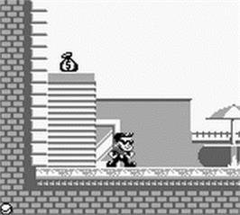 In game image of Hudson Hawk on the Nintendo Game Boy.