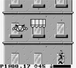 In game image of Incredible Crash Dummies on the Nintendo Game Boy.