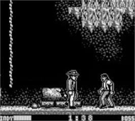 In game image of Indiana Jones and the Last Crusade: The Action Game on the Nintendo Game Boy.