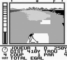 In game image of Jack Nicklaus Golf on the Nintendo Game Boy.