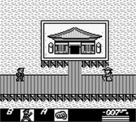 In game image of James Bond 007 on the Nintendo Game Boy.