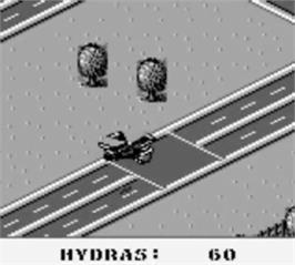 In game image of Jungle Strike on the Nintendo Game Boy.