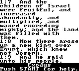 In game image of King James Bible For Use On Game Boy on the Nintendo Game Boy.