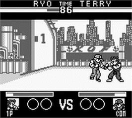 In game image of King of Fighters '95, The on the Nintendo Game Boy.