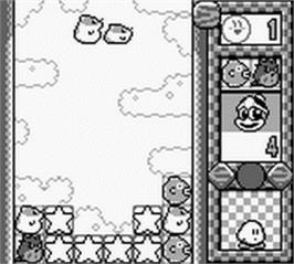In game image of Kirby's Star Stacker on the Nintendo Game Boy.