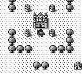 In game image of Knight Quest on the Nintendo Game Boy.