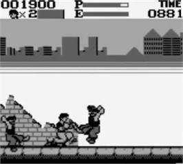 In game image of Kung-Fu Master on the Nintendo Game Boy.