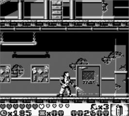 In game image of Last Action Hero on the Nintendo Game Boy.