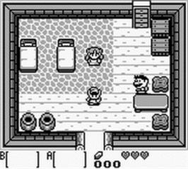 In game image of Legend of Zelda: Link's Awakening on the Nintendo Game Boy.