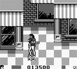 In game image of Lethal Weapon on the Nintendo Game Boy.