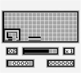 In game image of Loopz on the Nintendo Game Boy.