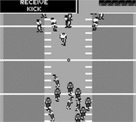 In game image of Madden NFL '95 on the Nintendo Game Boy.
