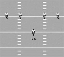In game image of Madden NFL '96 on the Nintendo Game Boy.