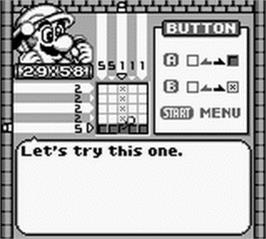 In game image of Mario's Picross on the Nintendo Game Boy.