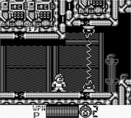 In game image of Mega Man III on the Nintendo Game Boy.