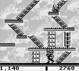 In game image of Miner 2049er on the Nintendo Game Boy.