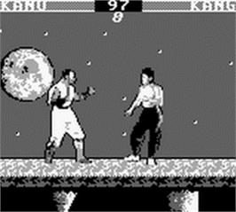 In game image of Mortal Kombat on the Nintendo Game Boy.