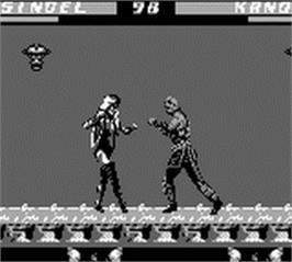In game image of Mortal Kombat 3 on the Nintendo Game Boy.