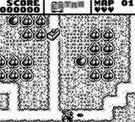 In game image of Mr. Do! on the Nintendo Game Boy.