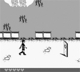In game image of Mulan on the Nintendo Game Boy.