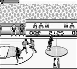In game image of NBA Jam on the Nintendo Game Boy.