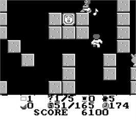 In game image of NIV Bible & the 20 Lost Levels of Joshua on the Nintendo Game Boy.