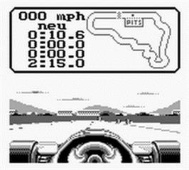 In game image of Nigel Mansell's World Championship on the Nintendo Game Boy.