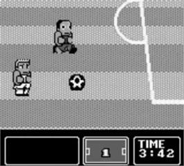 In game image of Nintendo World Cup on the Nintendo Game Boy.