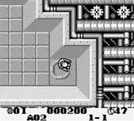 In game image of Out of Gas on the Nintendo Game Boy.