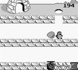 In game image of Penguin Land on the Nintendo Game Boy.