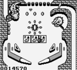 In game image of Pinball:  Revenge of the 'Gator on the Nintendo Game Boy.