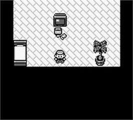 In game image of Pokemon - Blue Version on the Nintendo Game Boy.