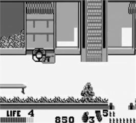 In game image of Punisher: Ultimate Payback on the Nintendo Game Boy.